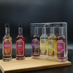Real Fruit Liqueurs Taster Set (4 miniatures of your choice)