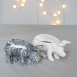 Marble Piggy Pinch Pot