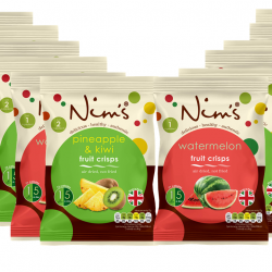 Nim's Summer Mix - Watermelon and Pineapple and Kiwi Air Dried Fruit Crisps