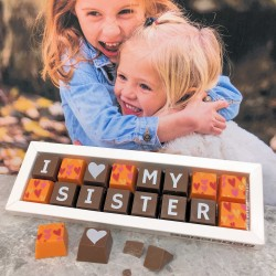 Personalised I LOVE YOU SISTER Box of Chocolates (classic)