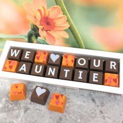 Personalised I LOVE YOU AUNTIE Box of Chocolates (classic)