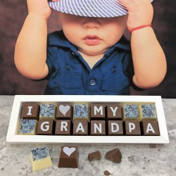 Personalised I LOVE YOU GRANDAD Box of Chocolates (classic)
