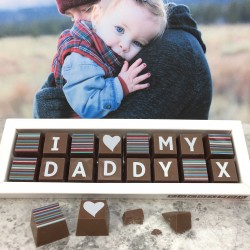 Personalised I LOVE YOU DADDY Box of Chocolates (classic)
