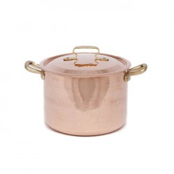 Copper Deep Saucepot With Lid