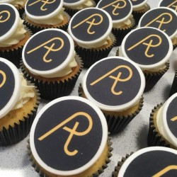 Personalised Photo Logo Cupcakes by Post Gift Box