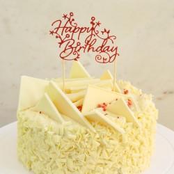 Happy Birthday Handmade Glitter Cake Topper - 16 Colours Available!