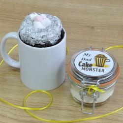 Dad's Chocolate Mug Cake Treat (Vegan, Dairy-Free, Gluten-Free, Low-Sugar & Regular Recipes Available)