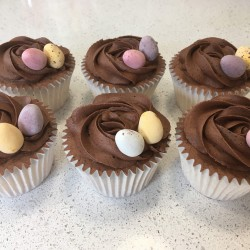 Chocolate Easter Egg Cupcake Gift Box