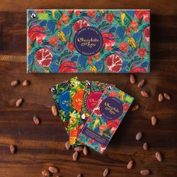Pomegranate Chocolate Gift Box (4x 80g bars)
