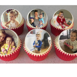 Personalised Gift Cupcakes With Your Photo Or Drawings (Box of 6)