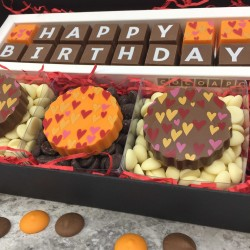 Happy birthday Chocolate Gift Box with hearts