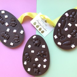Dairy Free Flat Easter Egg Bar with Mini Vegan Mallows