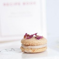 Vegan Macarons Making Mini Kit - Raspberry & Rose Petals (Makes 24 Macarons)