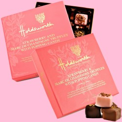 Strawberry & Marc De Champagne Truffles with Popping Candy (2 Boxes)