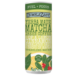 Fuel + Focus: Sparkling Yerba Mate, Matcha & Green Coffee Bean (24 pack)