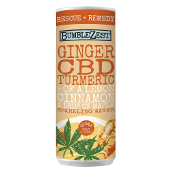 Rescue + Remedy: Sparkling Ginger, Turmeric & CBD (24 pack)