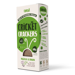 Protein Cricket Crackers - Nigella & Onion 85g (4 Packs)