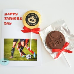 Personalised Fathers Day Gift - Chocolate Greeting Card (Vegan, Soya and Gluten Free)