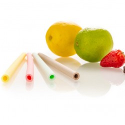 20 x Mixed Flavours Edible Straws (Strawberry, Lemon, Lime, Chocolate)