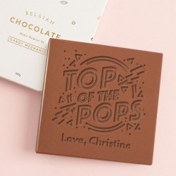Personalised 'Top of the pops' Father's Day Card