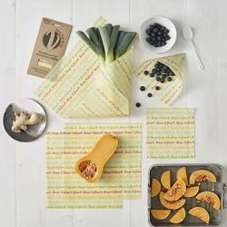 Reusable Vegan Food Wraps - Large Kitchen Pack