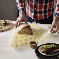 Reusable Vegan Food Wrap - Large Bread Wrap