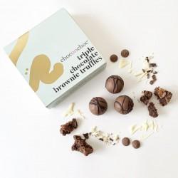 Triple Chocolate Brownie Truffles