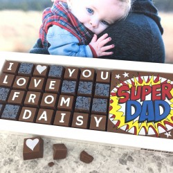 Personalised I LOVE YOU SUPERDAD Chocolates