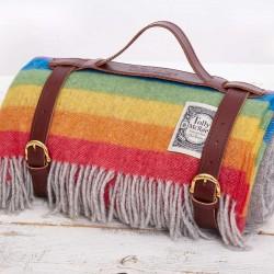 Rainbow Stripe Picnic Rug