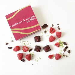 Raspberry And Wasabi Chocolate Truffles