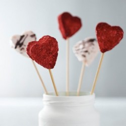 Champagne and Strawberries Marshmallow Hearts