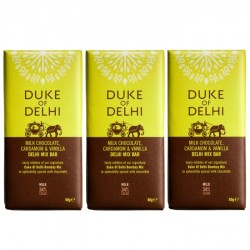 3 bars of Handmade Milk Chocolate, Cardamom & Vanilla Delhi Mix