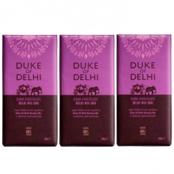 3 bars of Handmade Dark Chocolate Delhi Mix