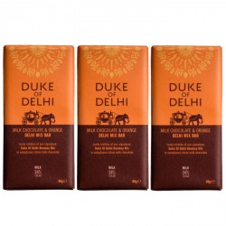 3 bars of Handmade Milk Chocolate and Orange Delhi Mix