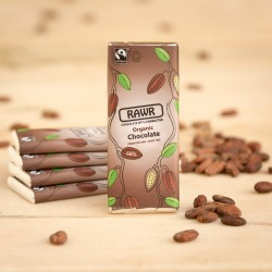 Raw 68% Cacao Chocolate Bars - Organic, Fairtrade (5 pack)