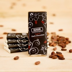 80% Cacao Raw Chocolate Bars - Organic, Fairtrade (5 bars)