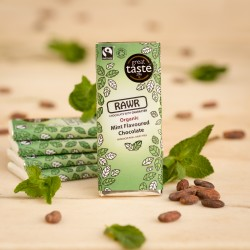Raw Mint Chocolate Bars - Organic, Fairtrade (5 bars)