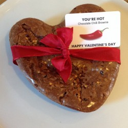 Valentines Day Chilli Chocolate Brownie Heart (Serves 8)