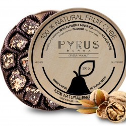 Natural Asian Pear with Walnut Fruit Cubes in a Wooden Box (200g) - Vegan, Gluten Free, Dairy Free, 100% Natural