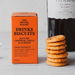 Drinks Biscuits - Mature Cheddar, Chilli & Almond