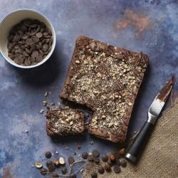 Chocolate and Hazelnut Letterbox Brownie (Gluten Free Recipe)
