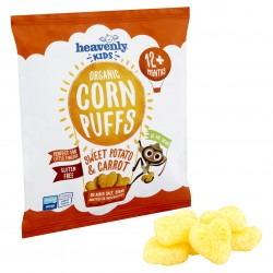 Heavenly Kids, Organic Corn Puffs, Sweet Potato & Carrot (Case of 6 x 15g bags)