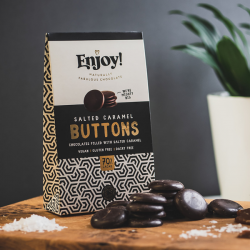 Organic Dark Salted Caramel Chocolate Buttons