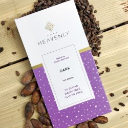 3 Vegan Low Sugar 72% Dark Chocolate Bars (Free From)