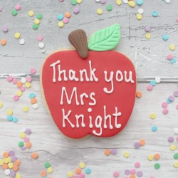 Teacher Thank You Large Apple Cookie Gift