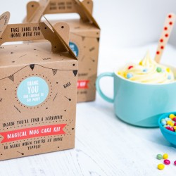 Personalised Magic Mug Cake Kit Party Bag