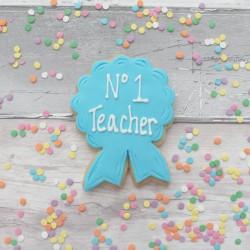 Best Teacher Rosette Thank You Cookies