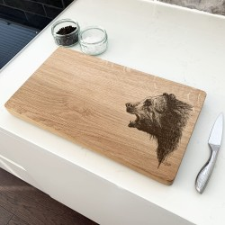 Oak Bear Chopping Board