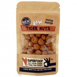 Organic Cacao Dusted Tiger Nuts ( 3 x 35g bags )