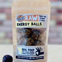 Raw Energy Balls - Tiger Nut, Ginger& Date with Guarana, 3 pack